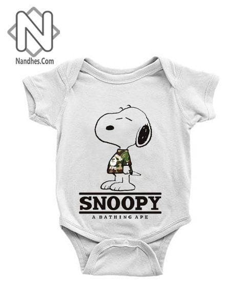 Snoopy Bape Baby Onesie