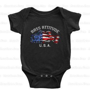 Bass Attitude USA Logo Baby Onesie