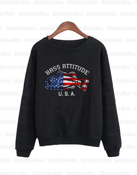 Bass Attitude USA Logo Sweatshirts