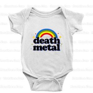 Death Metal Rainbow Baby Onesie