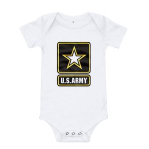 Us Army Logo Basic Military Strong Baby Onesie