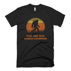 Bigfoot Sasquatch Hide and Seek T Shirt
