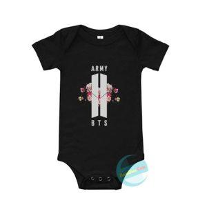 BTS Army Floral Baby Onesie