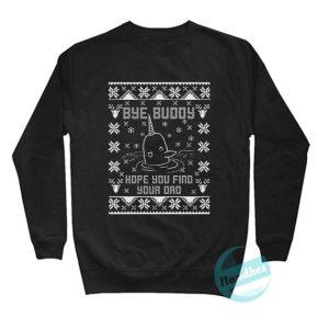 Bye Buddy Narwhal Ugly Christmas Sweatshirt