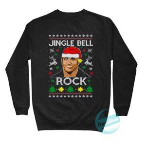 The Rock Jingle Bell Rock Ugly Sweatshirt