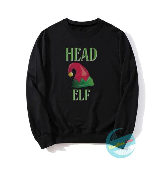 Head Elf Christmas Sweatshirts