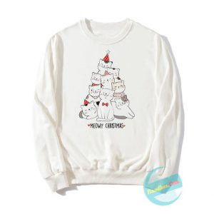 Tree Cats Meowy Christmas Sweatshirts