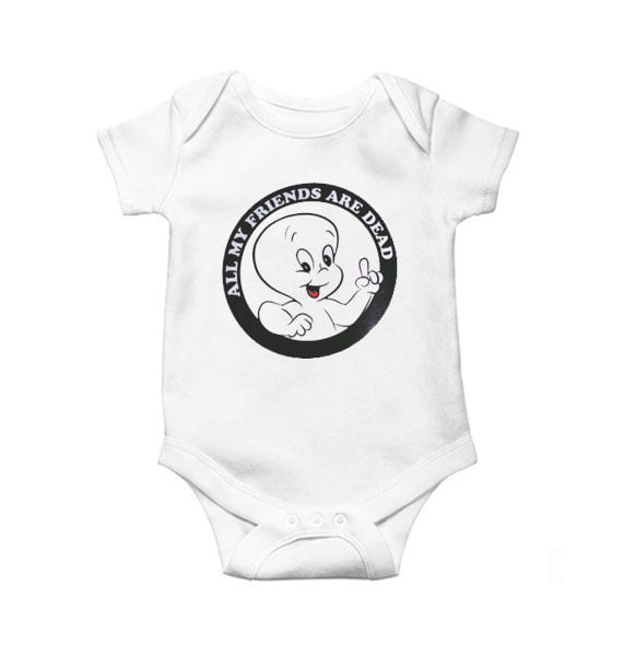 All my Friends are Dead Baby Onesie