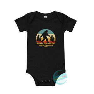 Bigfoot Social Distancing World Champion Baby Onesie