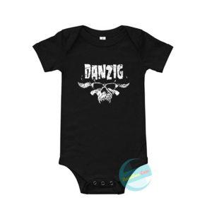 Danzig Skull Baby Onesie