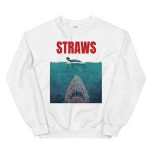 Straws Jaws Turtle Sweatshirt