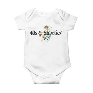 40s & Shorties Angel Logo Baby Onesie