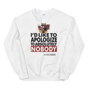 Conor Mcgregor Apologize Ufc Mma Notorious Sweatshirt