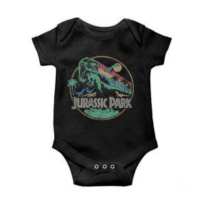 Jurassic Park Rainbow Baby Onesie