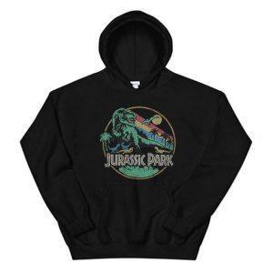 Jurassic Park Rainbow Hoodie