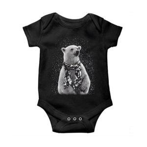 Polar Bear Graphic Baby Onesie