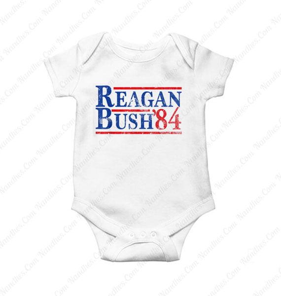 Reagan Bush 84 Baby Onesie