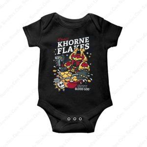 Chaos Khorne Flakes Baby Onesie