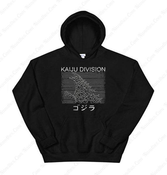 Hokusai Gojira And Kaiju Division Hoodie