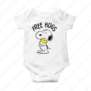 Peanuts Snoopy Free Hugs Baby Onesie